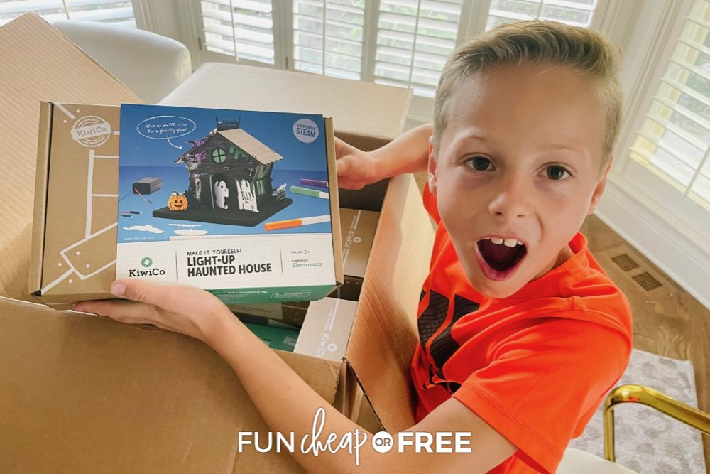 Light up haunted house halloween activity from Kiwi Co from Fun Cheap or Free