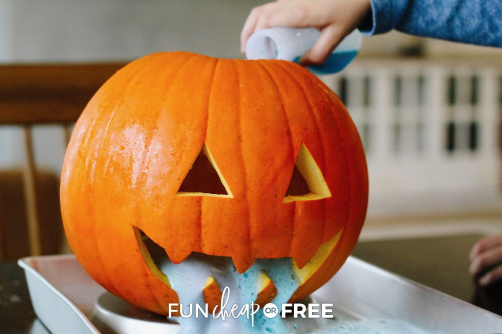 Puking Pumpkin Halloween science activity from Fun Cheap or Free