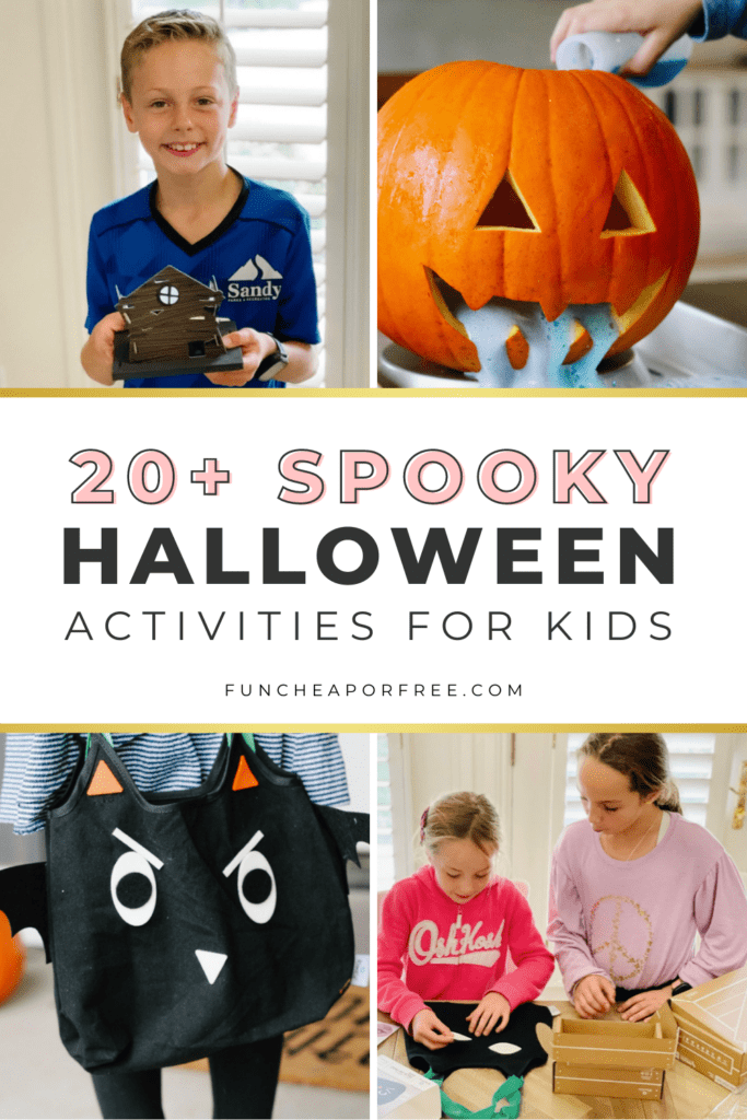 Collection of fun Halloween activities for kids from Fun Cheap or Free